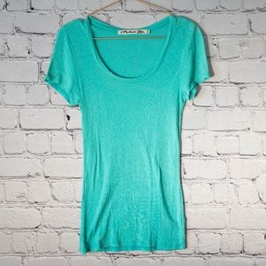 Michael Stars turquoise t shirt